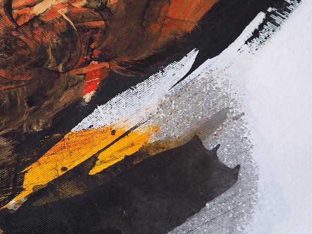 Pittura a olio sul fondo dell'estratto della tela.
