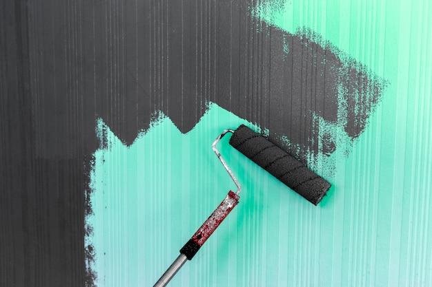 Pittura a pennello a rullo