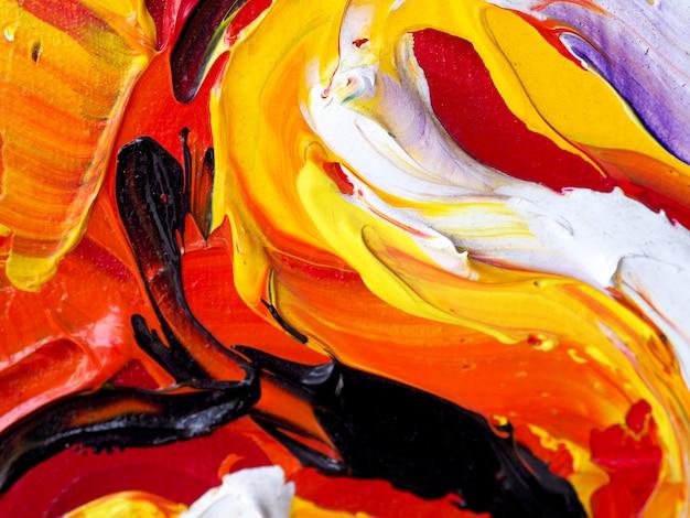 Pittura ad olio disegnata a mano