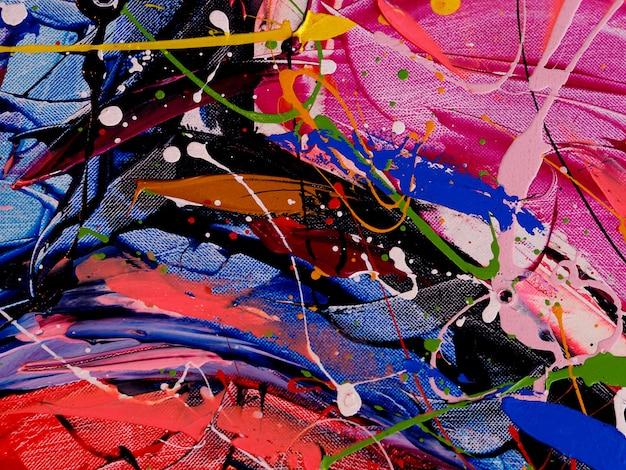 Pittura di astrattismo sul fondo della tela con struttura