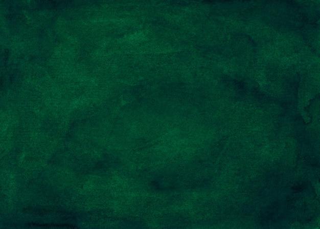 Pittura di fondo verde intenso dell'acquerello. acquerello astratto verde scuro. elegante rivestimento vintage.