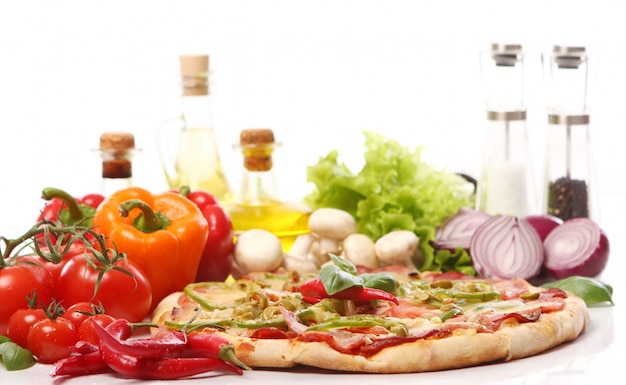 Pizza fresca e gustosa