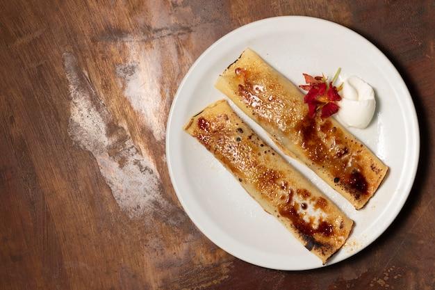 Placcatura piatta di crepes