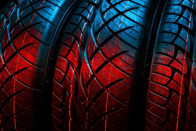 Pneumatici nuovi. pneumatici per auto da vicino