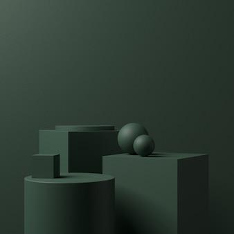Podio dell'estratto di forma 3d per l'esposizione del prodotto