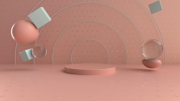Podio di anelli divertenti per la visualizzazione