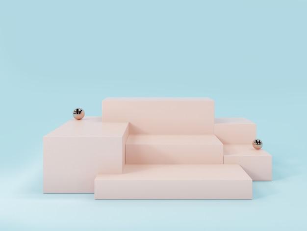 Podio di esposizione del prodotto rosa