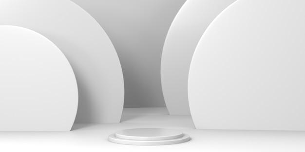 Podio di rendering 3d per prodotti di lusso
