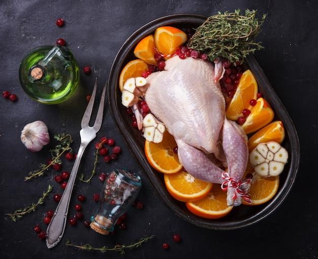Pollo al forno con arance