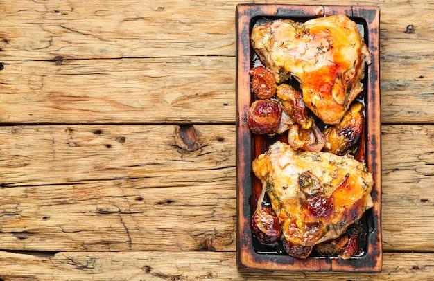 Pollo arrosto con prugna