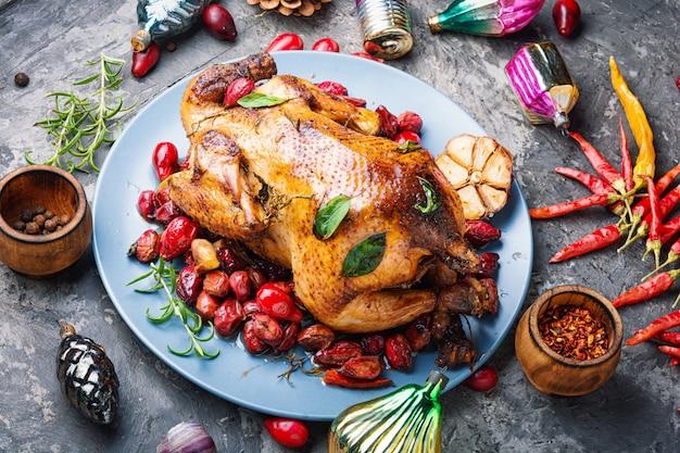 Pollo arrosto per natale