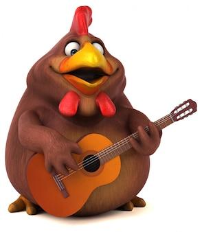 Pollo divertente - illustrazione 3d