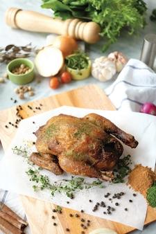 Pollo intero arrosto