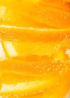 Polpa estrema dell'arancia del primo piano