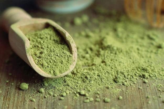 Polvere di tè verde matcha