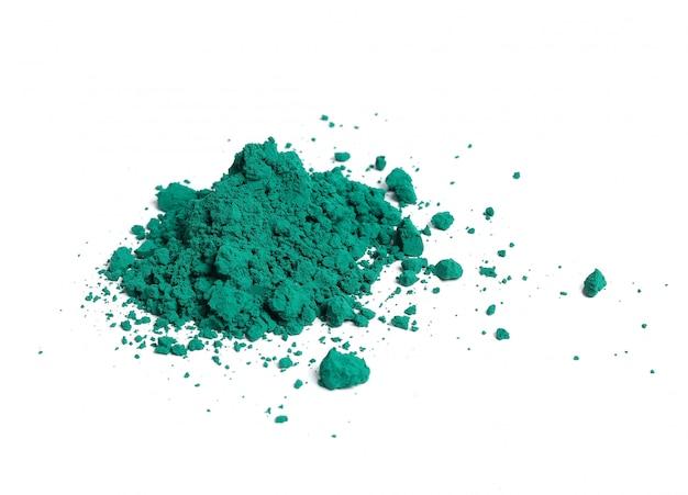 Polvere verde isolata, concetto di festival di holi
