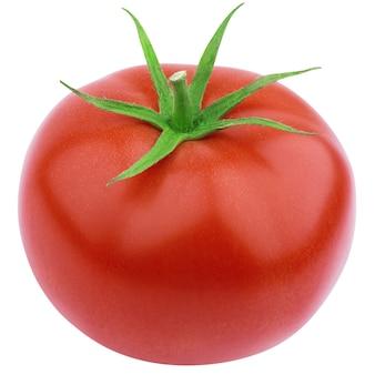Pomodoro isolato su bianco con il percorso di ritaglio
