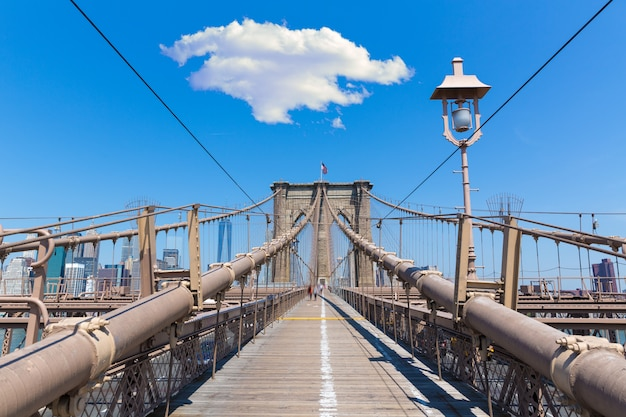 Ponte di brooklyn e manhattan new york city stati uniti