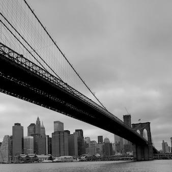 Ponte di brooklyn, new york, stati uniti d'america