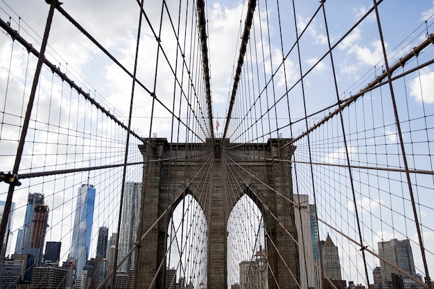 Ponte di brooklyn, new york, stati uniti