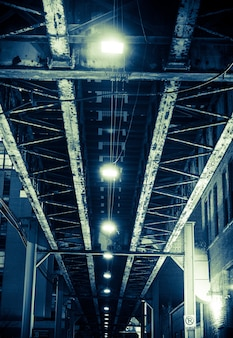 Ponte di ferro invecchiato