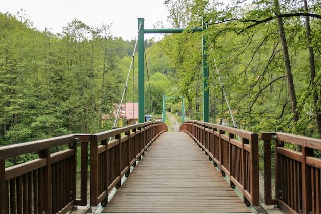 Ponte verde e di legno