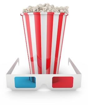 Popcorn e occhiali 3d