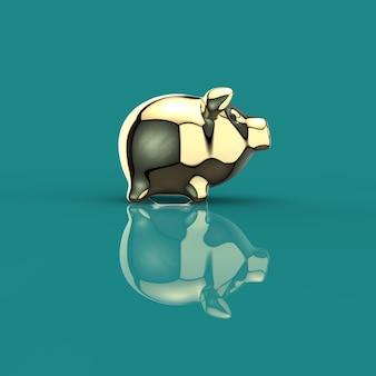 Porcellino salvadanaio - illustrazione 3d