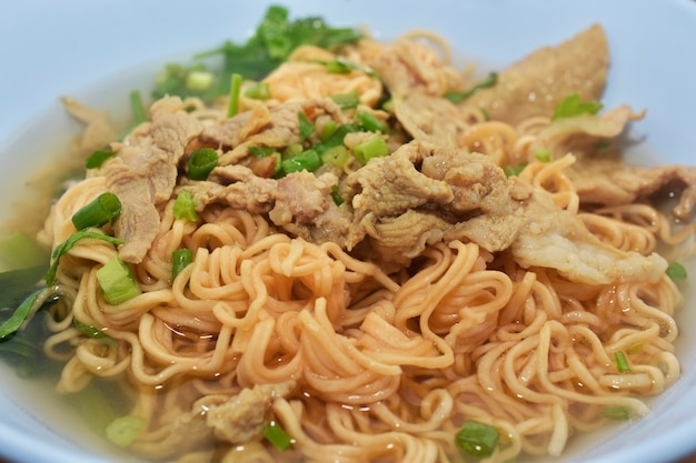 Pork ball noodle thai street food