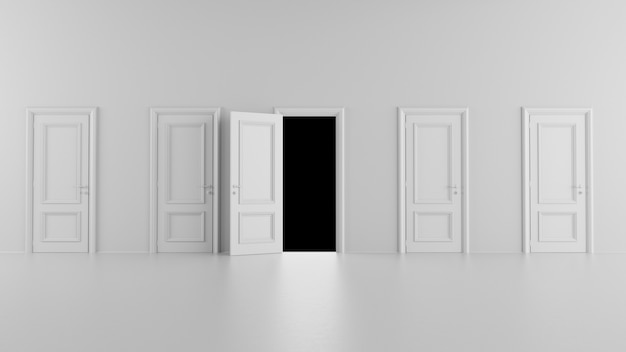 Porta aperta che conduce in una stanza buia