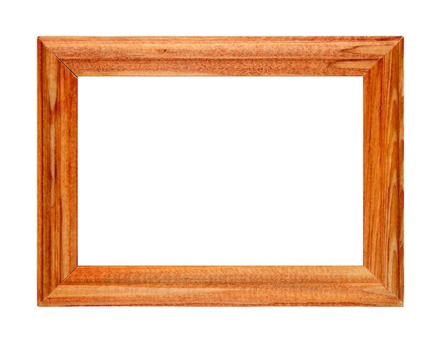 Portafoto in legno isolato su bianco