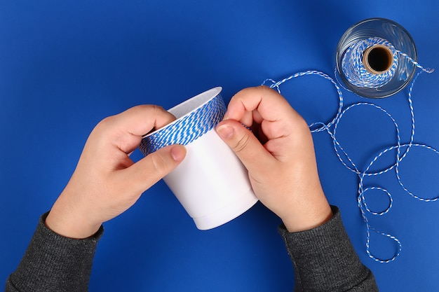 Portamatite fai da te in plastica