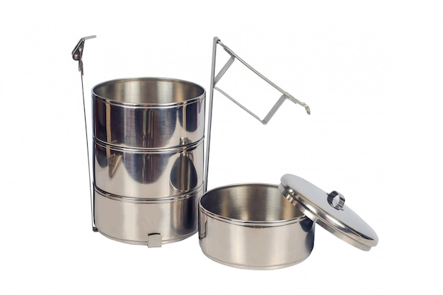 Portavivande in acciaio inossidabile o contenitore per alimenti tiffin.