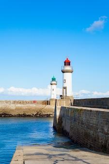 Porto della città le palais nell'isola belle ile en mer in francia nel morbihan