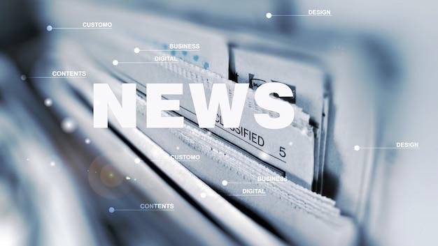 Poster creativo di notizie e informazioni