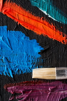Poster di pittura astratta. sfondo per una mostra di pittori
