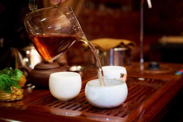 Preparazione del tè nella cerimonia