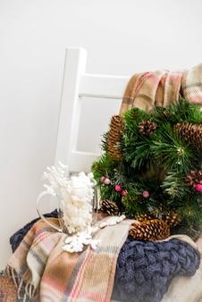 Preparazioni natalizie, concetto di capodanno