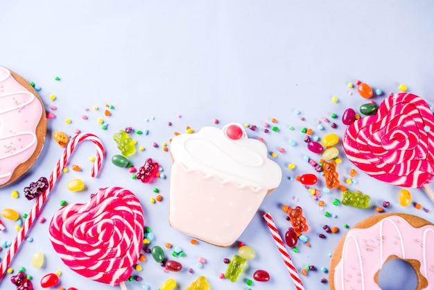 Presentazione creativa di dolci e caramelle