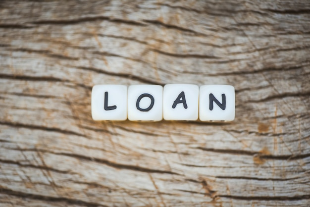 Prestito o prestito finanziario per contratto di prestito auto e casa. concetto di approvazione del prestito