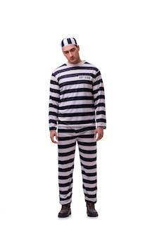 Prigioniero dell'uomo isolato su bianco