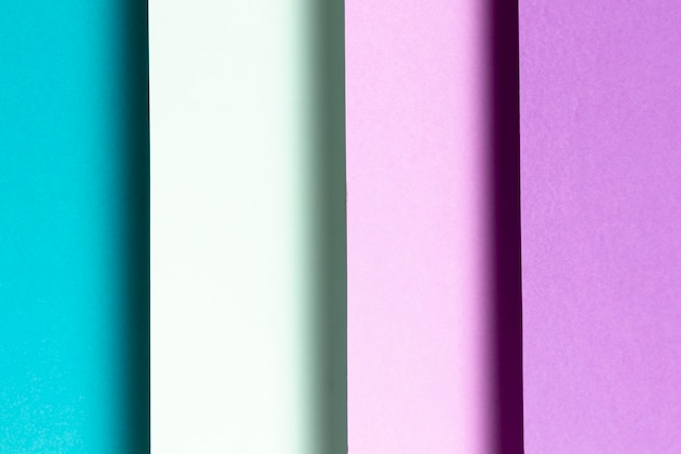 Primo piano blu e viola del modello