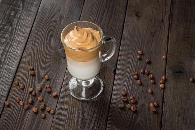 Primo piano caffè dalgona