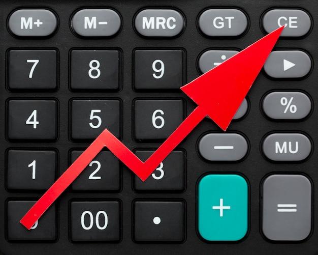 Primo piano calcolatrice per l'economia globale
