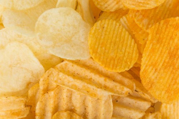 Primo piano cibo calorie sfondo di patate