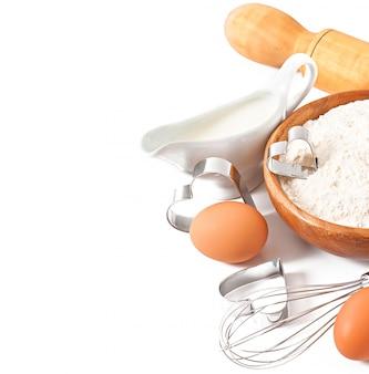 Primo piano degli ingredienti di cottura