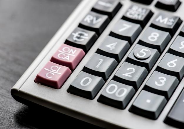 Primo piano del calcolatore