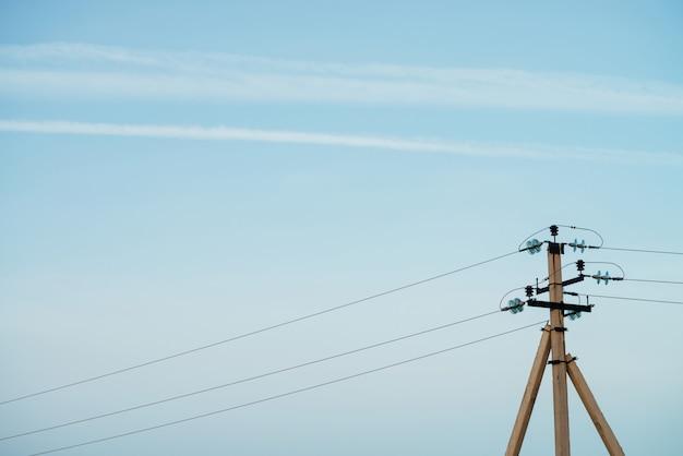 Primo piano del cielo blu.