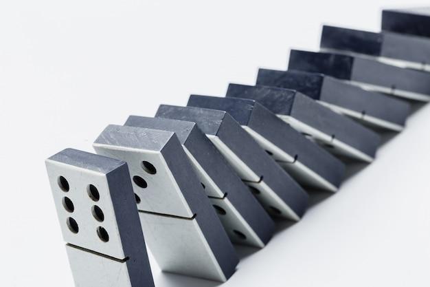 Primo piano del gioco domino