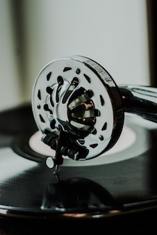 Primo piano del grammofono